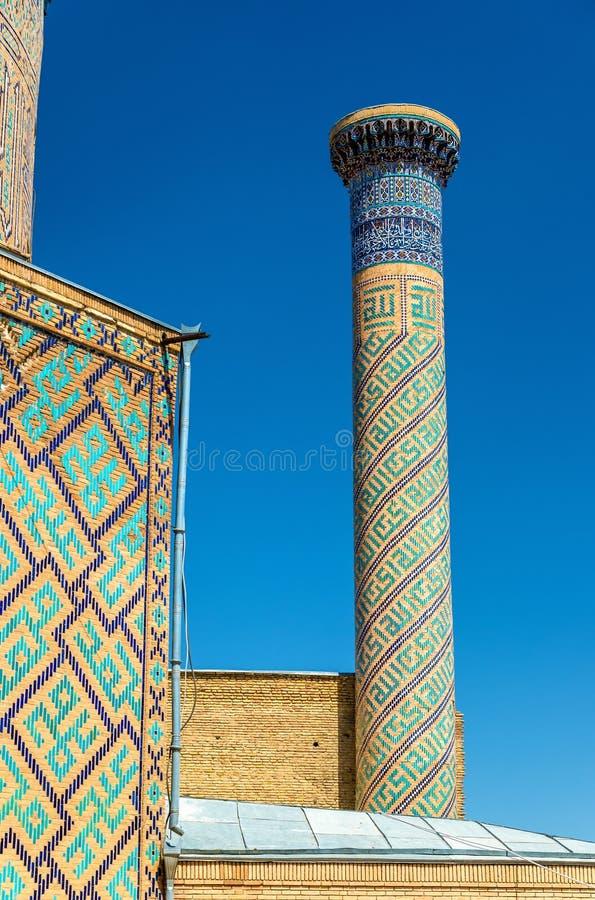九里亚裔征服者Tamerlane的贵族陵墓在撒马而罕,乌兹别克斯坦 免版税库存图片