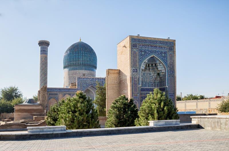 九里贵族陵墓在撒马而罕 免版税库存图片