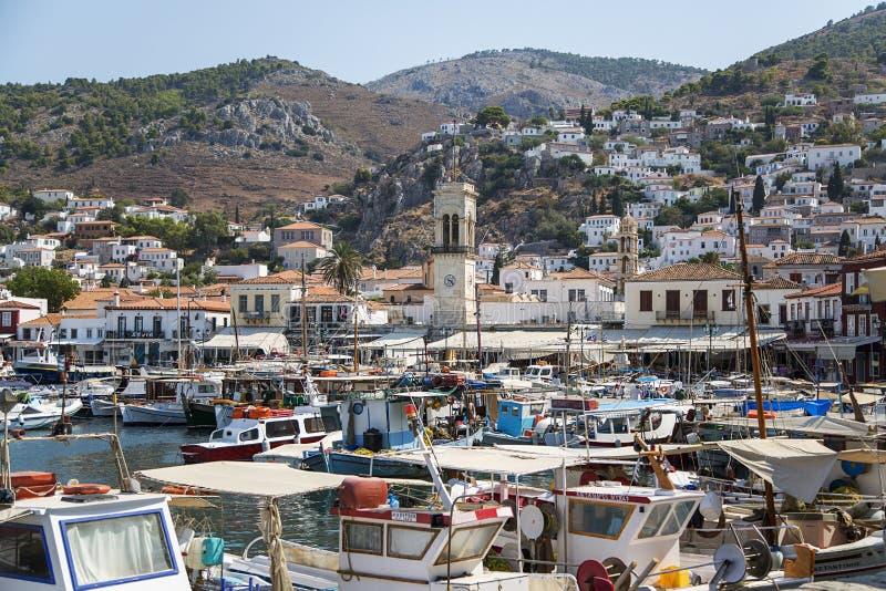 九头蛇海岛在希腊 免版税库存图片