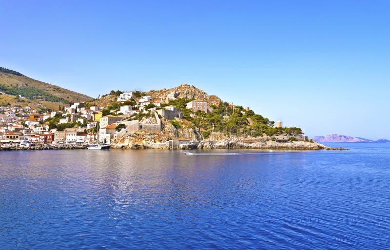 九头蛇海岛希腊 免版税库存照片