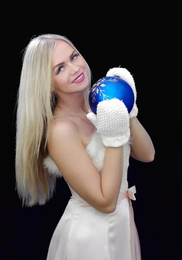 也作为收集玩偶已知的未婚俄国snegourochka雪 免版税库存照片