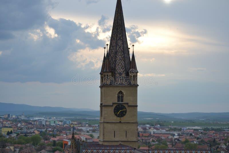 也作为酿酒厂基督教会已知的命名老安排波兰s那里耸立zywiec的城镇 免版税库存图片
