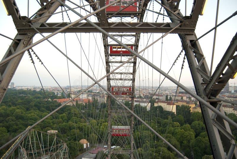 维也纳人的巨型弗累斯大转轮 免版税库存照片