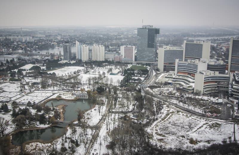 维也纳全景 免版税库存图片