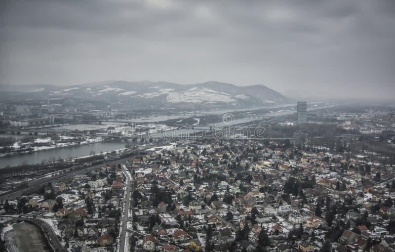 维也纳全景 库存照片