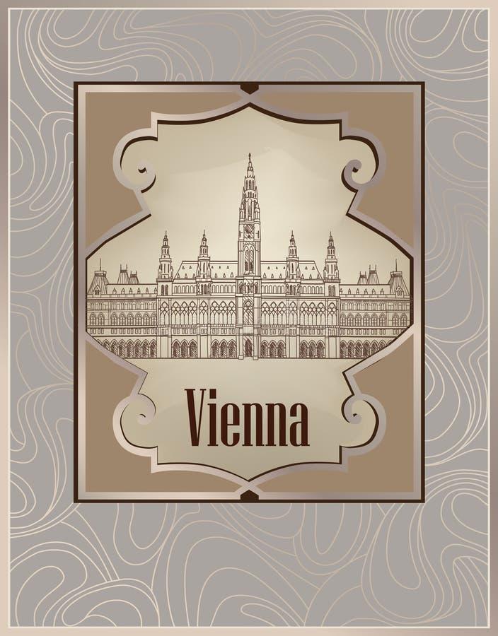 维也纳市横幅 向量例证