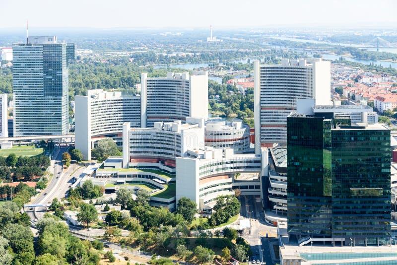 维也纳市鸟瞰图 库存照片