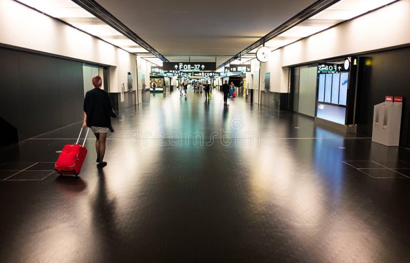 维也纳机场终端 库存照片