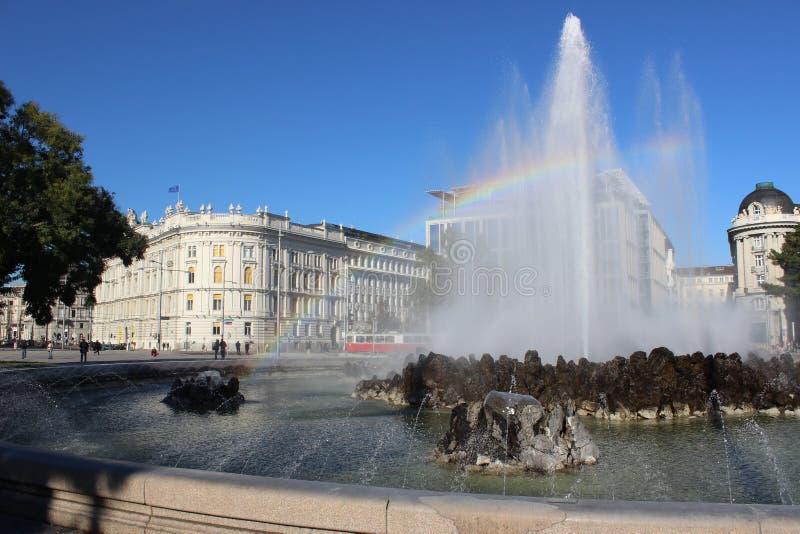 维也纳的中心 免版税库存图片