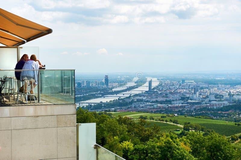 维也纳都市风景 奥地利 库存照片