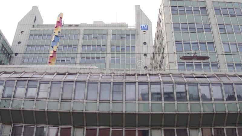 维也纳,奥地利-维恩12月, 24位TU,科技大学 库存照片