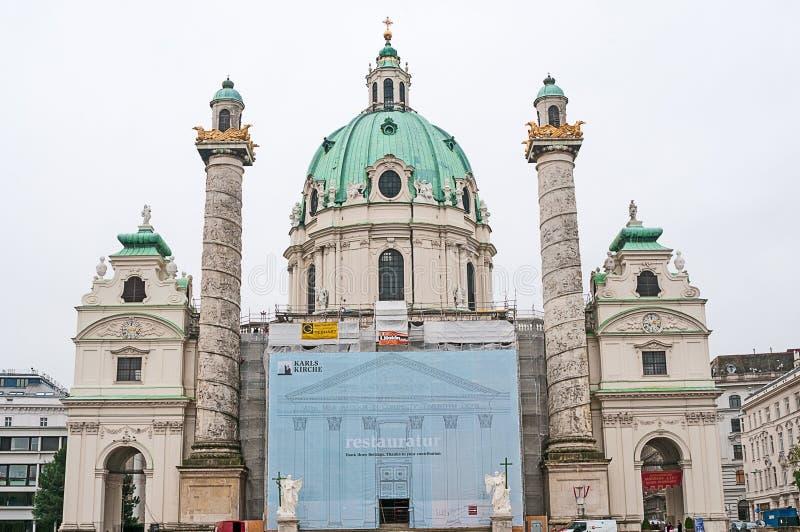 Download 维也纳,奥地利- 2015年10月20日:著名圣查尔斯看法 图库摄影片 - 图片 包括有 奥地利, 大教堂: 62539832