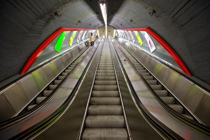 维也纳U-Bahn在维也纳,奥地利 图库摄影