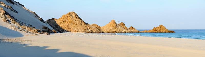 也门。 索科特拉岛。 Detwah盐水湖。 免版税库存图片
