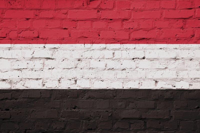 也门旗子纹理  库存例证