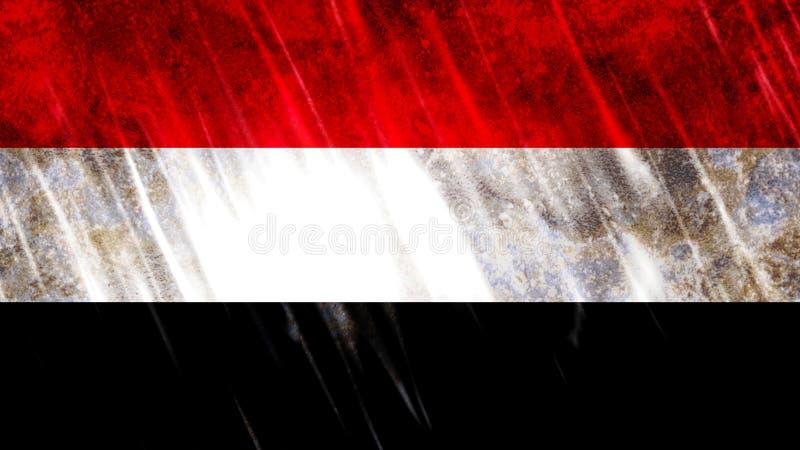也门旗子 向量例证