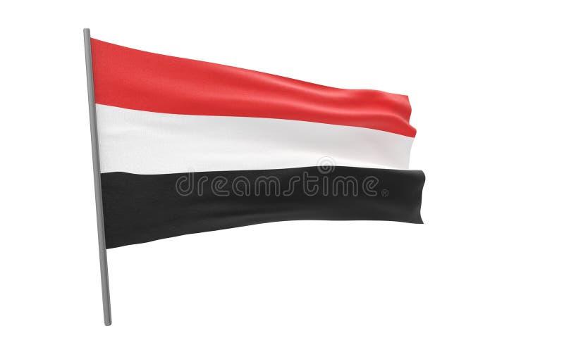 也门的旗子 皇族释放例证