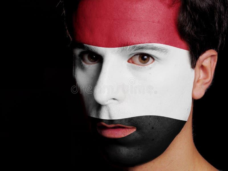 也门的旗子 免版税图库摄影