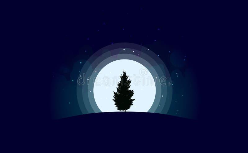 也corel凹道例证向量 圣诞节 横向晚上人街道走的冬天 库存例证