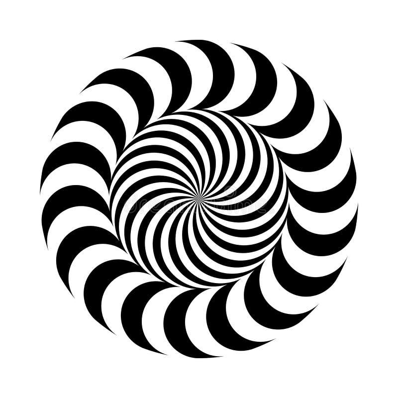 也corel凹道例证向量 在圆环埋置的黑白圆的样式 容量错觉  向量例证