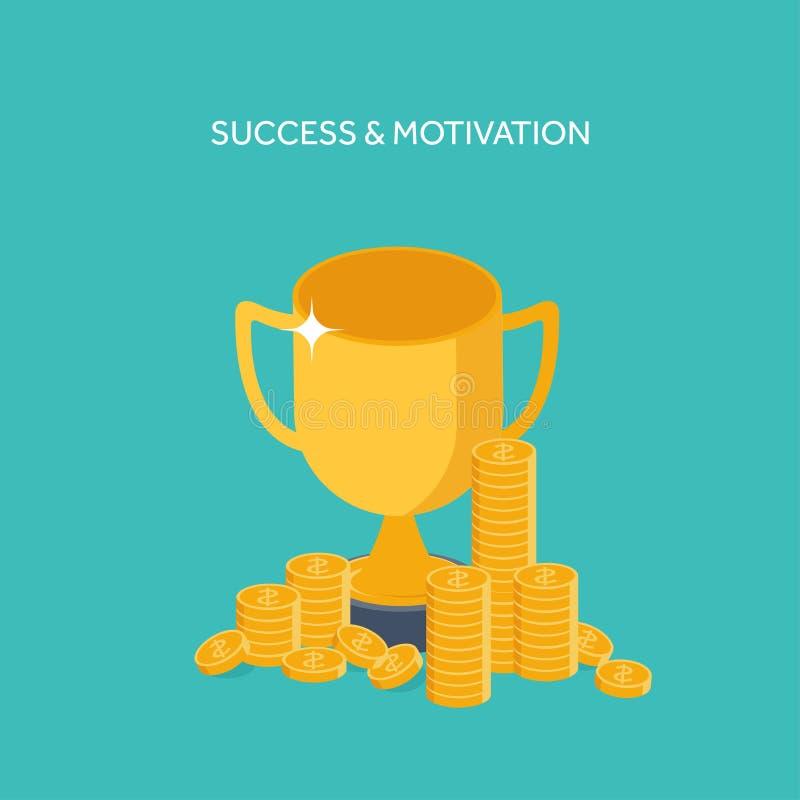 也corel凹道例证向量 平的倒栽跳水 战利品,金钱 新的想法,聪明的解答 企业目标 刺激和成功 向量例证