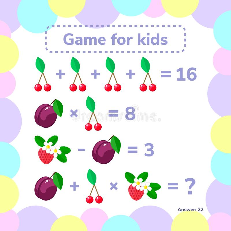也corel凹道例证向量 教育一场数学比赛 逻辑任务 库存例证