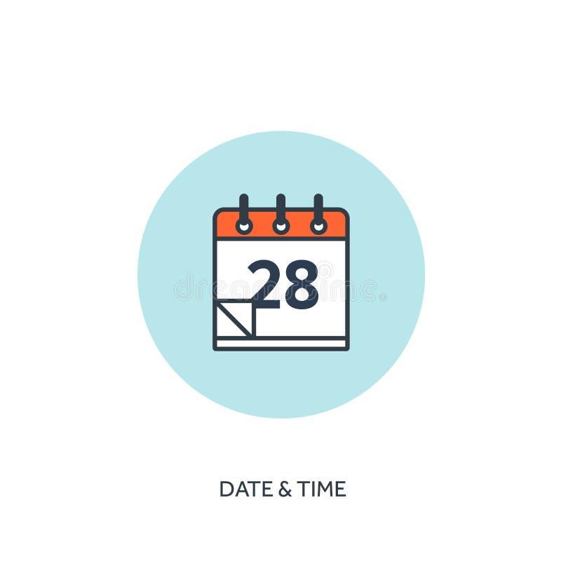 也corel凹道例证向量 日历排行了象 日期-时间 假日计划 库存例证
