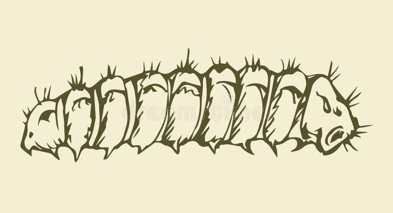 也corel凹道例证向量 毛虫 皇族释放例证