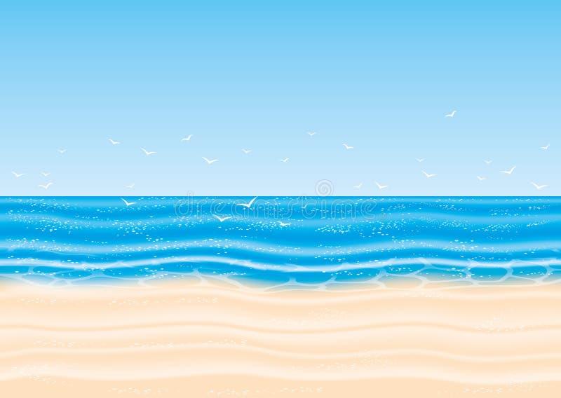也corel凹道例证向量 海滩 皇族释放例证