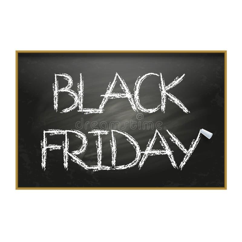 也corel凹道例证向量 黑色星期五 与l的黑校务委员会 免版税库存图片