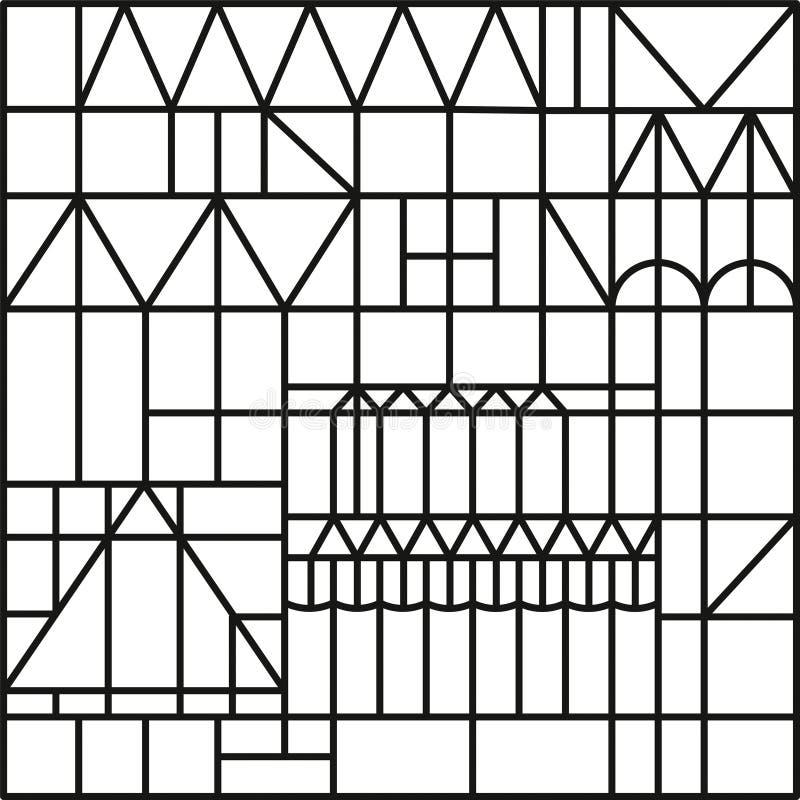 也corel凹道例证向量 色的装饰品无缝的样式 皇族释放例证