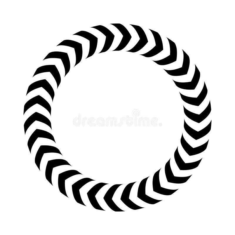 也corel凹道例证向量 镶边圆环-容量错觉  皇族释放例证
