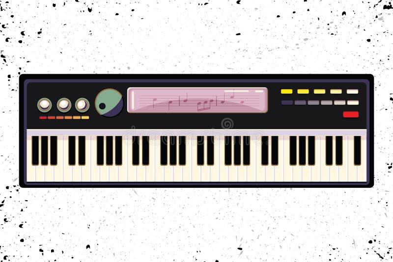 也corel凹道例证向量 音乐平的背景 钢琴,键盘 库存例证