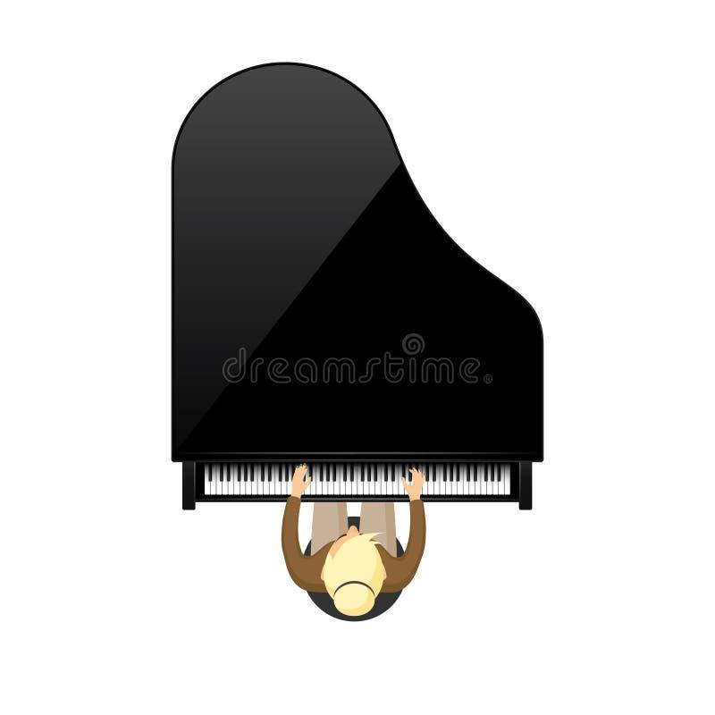 也corel凹道例证向量 音乐背景 钢琴钥匙,键盘 曲调 仪器 库存例证