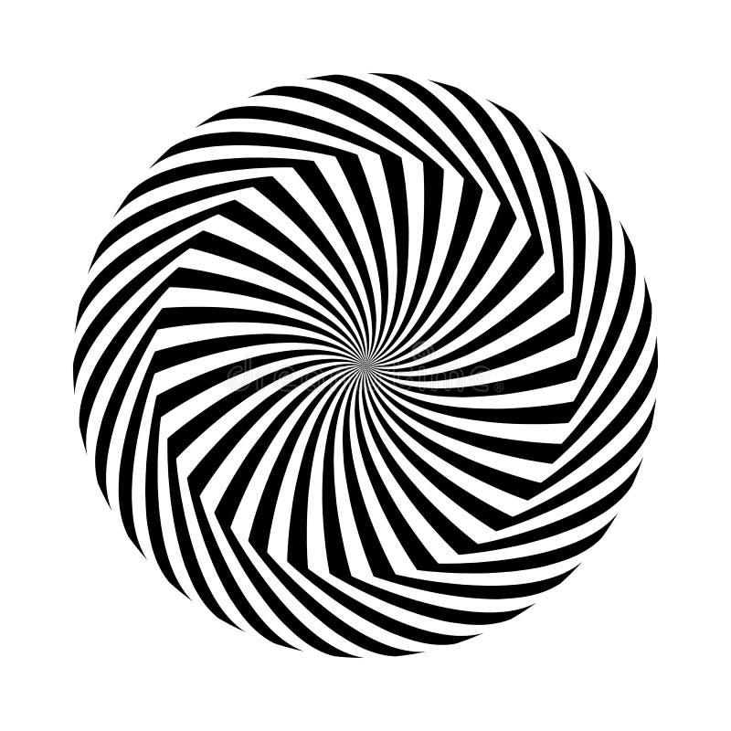 也corel凹道例证向量 黑白圆的抽象几何样式 容量错觉  皇族释放例证