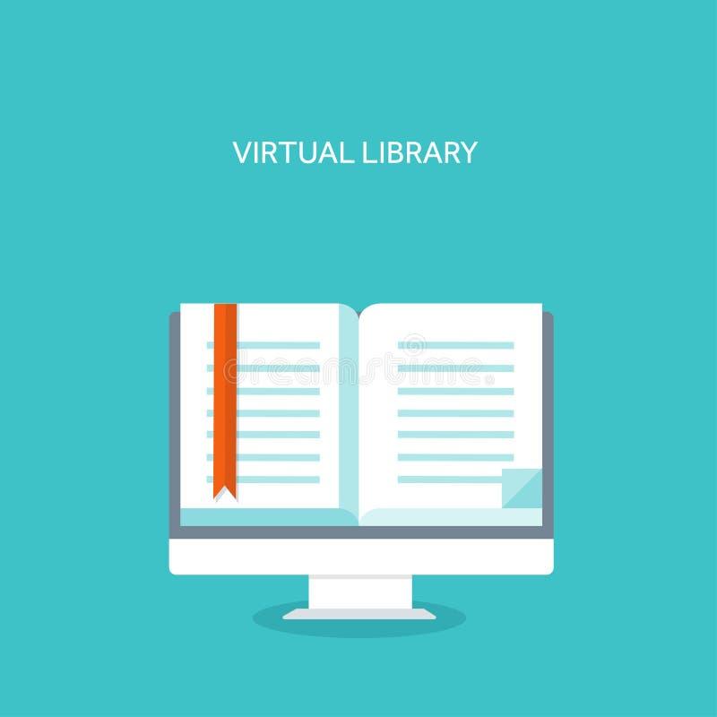 也corel凹道例证向量 E书 平的背景集合 远程教育,学会 网上课程和网schoo 库存例证