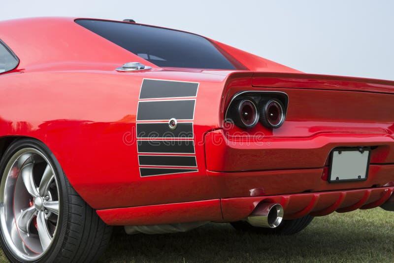 习惯汽车后面视图  库存照片