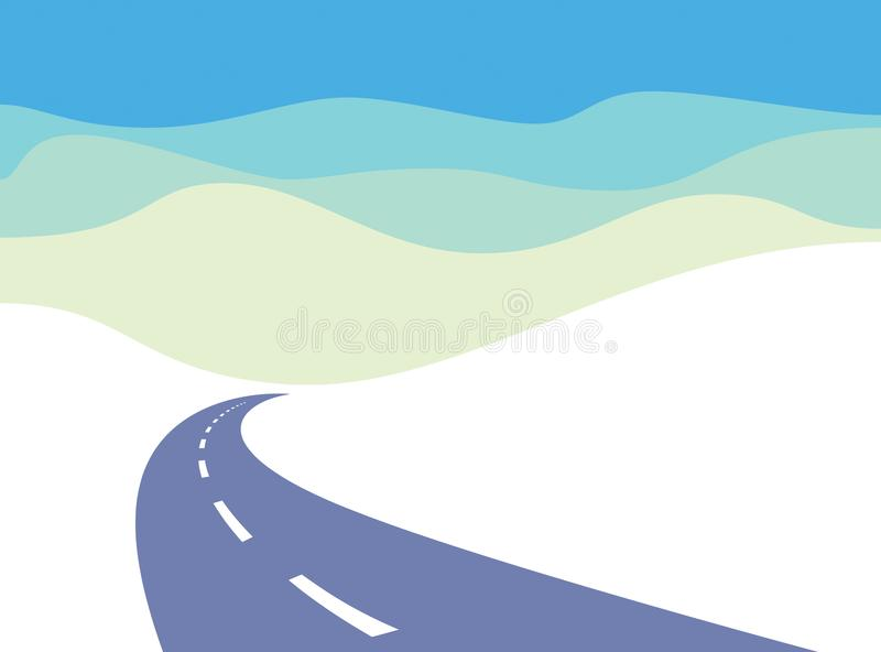 乡下公路弯曲了高速公路传染媒介完善的设计例证 向量例证