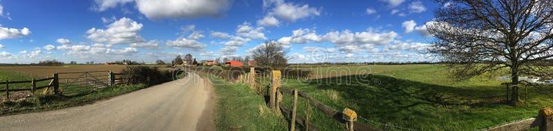 乡下公路-北约克郡-英国 库存照片