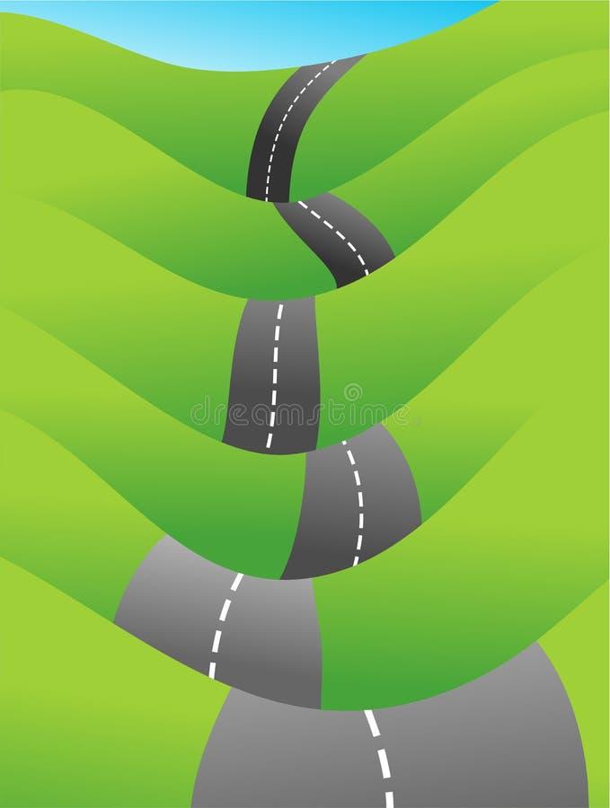 乡下公路 向量例证