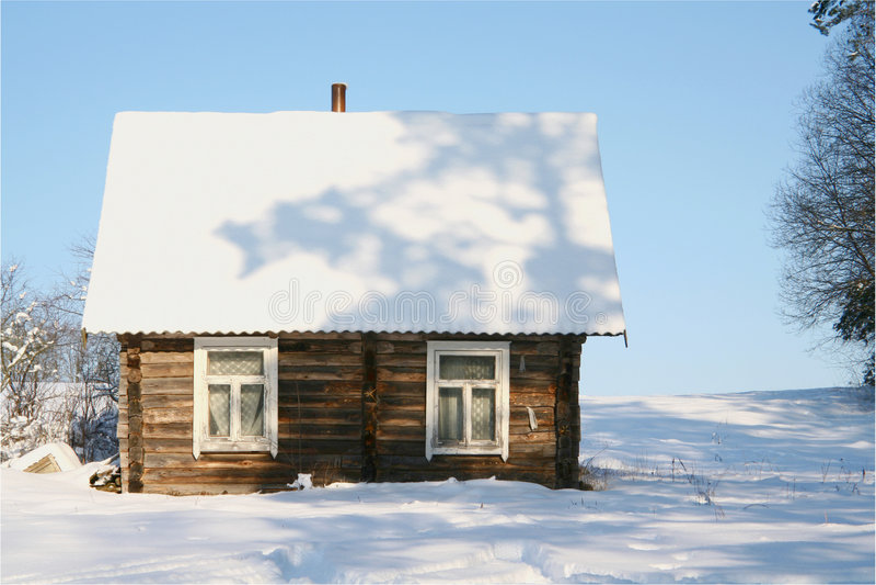 乡下冬天 库存图片
