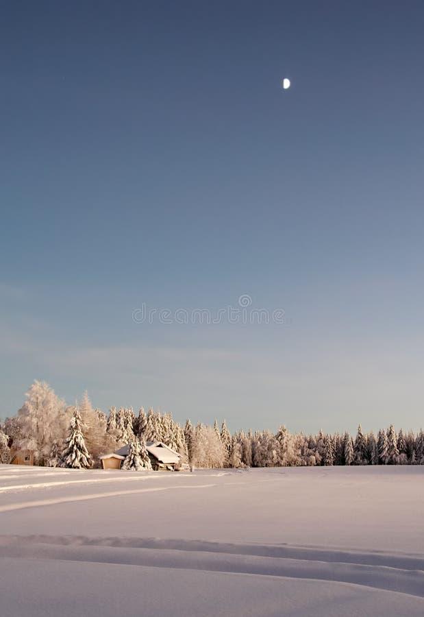 乡下冬天 免版税库存照片