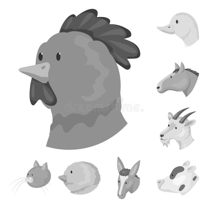 乡下和宅基标志传染媒介设计  套乡下和良种畜传染媒介例证 向量例证