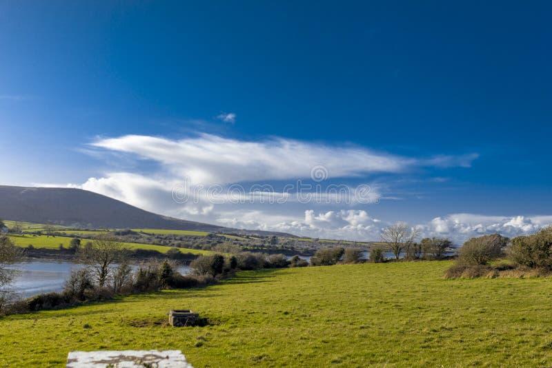 乡下风景戈尔韦郡爱尔兰 免版税库存照片