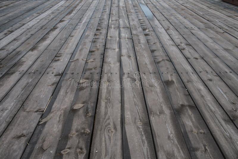 乡下年迈的老农厂谷仓地板特写镜头 库存照片