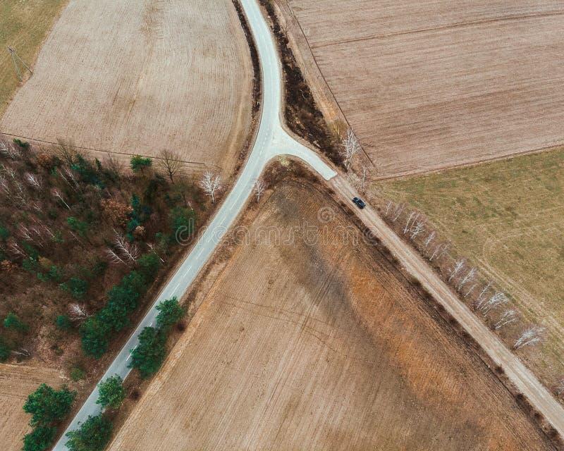乡下croosroads 免版税库存图片