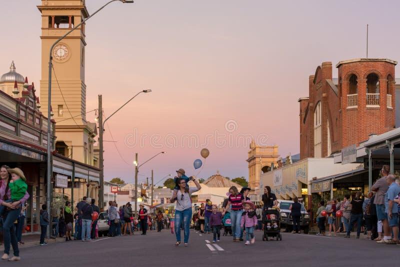 乡村音乐节日游行,宪章耸立,澳大利亚 免版税库存照片