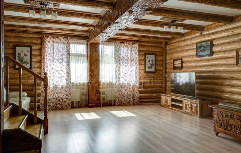 乡间别墅或旅馆内部农村样式的 免版税图库摄影
