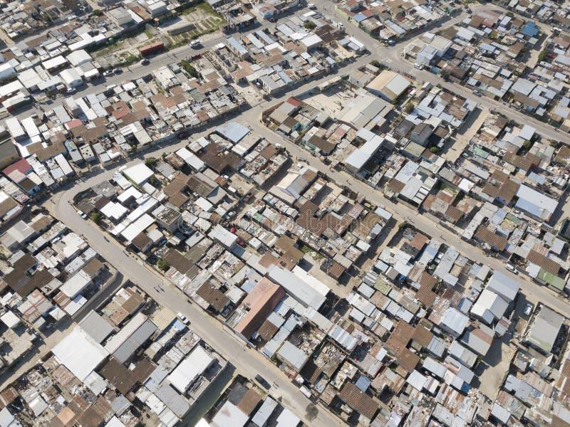乡,南非鸟瞰图  库存照片