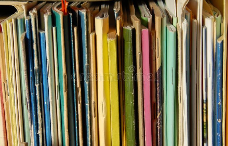书五颜六色的盖子 库存图片